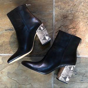 🍃💕Dolce Vita Leather Contrast Block Heel Bootie